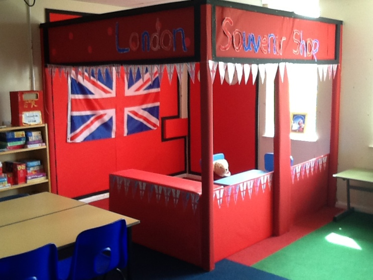 Our new role play area.